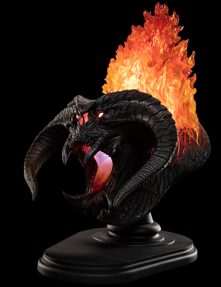熊熊燃燒的烏頓之火!! WETA《魔戒》炎魔 The Balrog, Flame Of Udûn 胸像作品