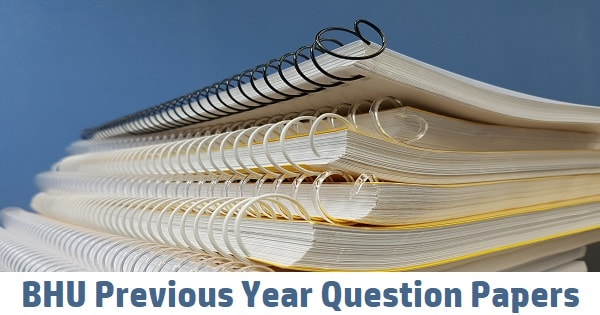 bhu previous year question papers
