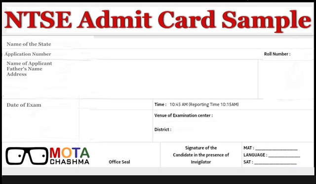 NTSE Admit Card 2019-20: Download NTSE Hall Ticket for All