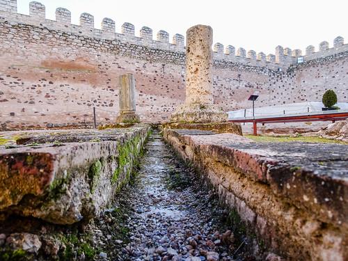 baños arabes interior Castillo Doña Berenguela Bolaños de Calatrava Ciudad Real 27
