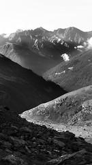 mountain landscape monochrome