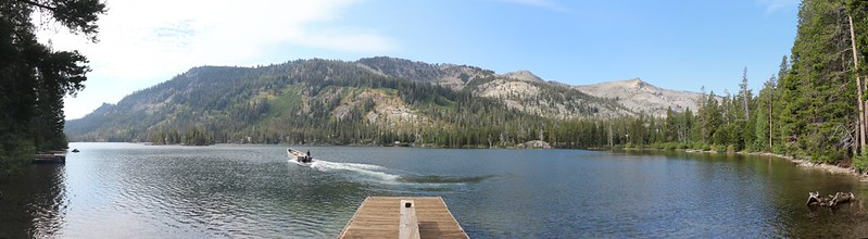 The boat dock at the far end of north Echo Lake where the water taxi dropped us off with our backpacks