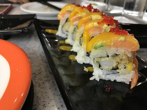 Sushi roll at Point Sushi in Calgary