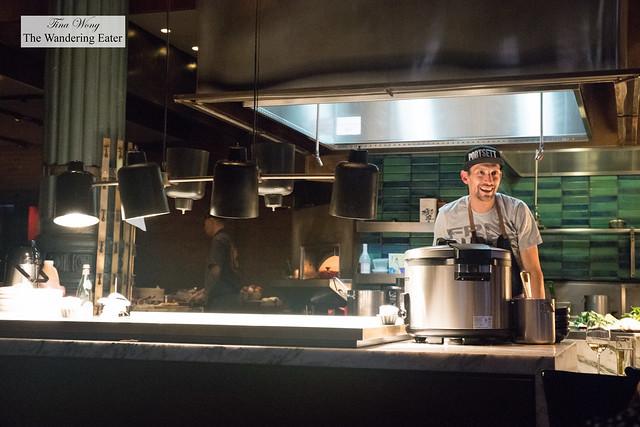 Chef Abe Conlon in the kitchen