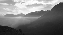 Ortler mountain black and white