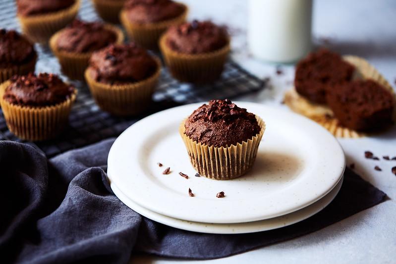Keto Chocolate Muffins {gluten-free, paleo}