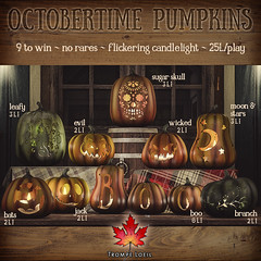 Trompe Loeil - Octobertime Pumpkins Gacha for The Arcade October (Special Halloween Round!)