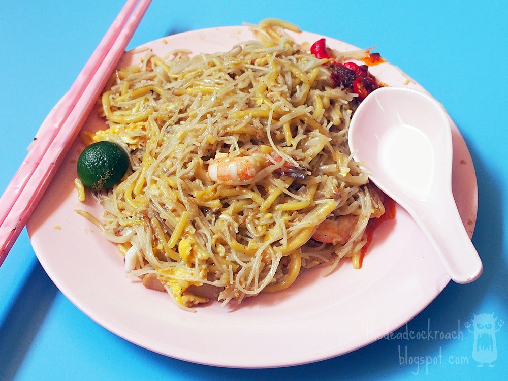 fried hokkien prawn mee,海南福建炒蝦麵,singapore, golden mile, golden mile food centre, food review,food,review,hokkien mee,fried hokkien mee,beach road,army market