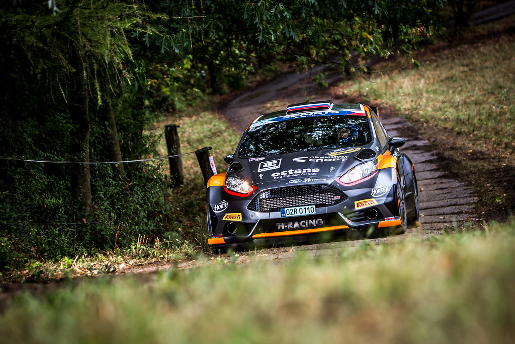 01 Lukyanuk Alexey, Arnautov Alexey, RUS/RUS, Russian Performance Motorsport, Ford Fiesta R5, Action during the 2018 European Rally Championship ERC Barum rally,  from August 24 to 26, at Zlin, Czech Republic - Photo Thomas Fenetre / DPPI