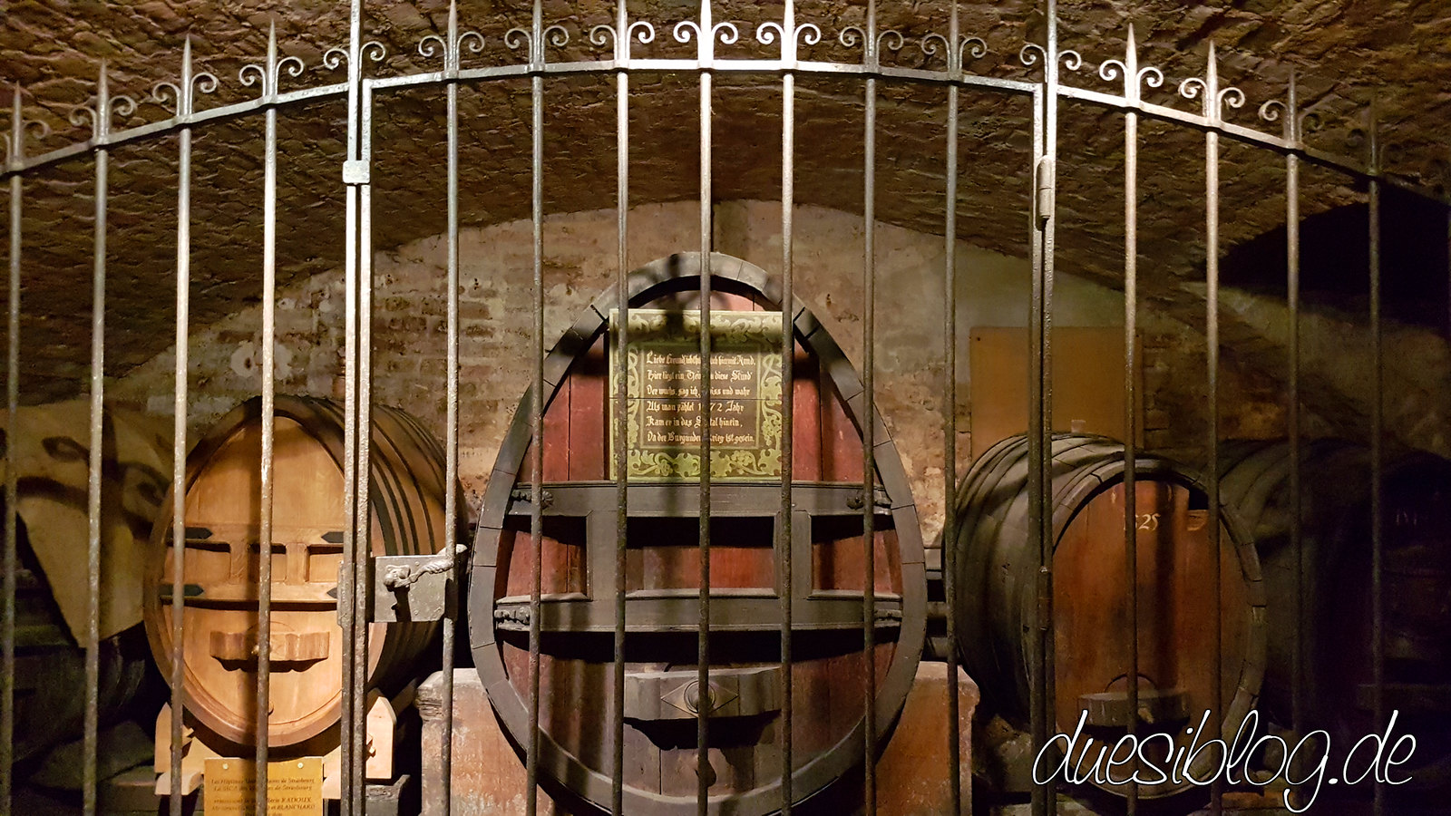 Cave historique des hospices de Strasbourg Weinkeller duesiblog travelblog 33