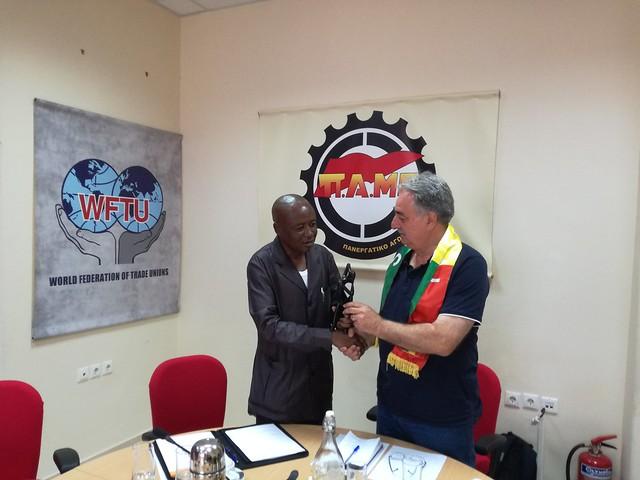 5-7-2018 Συνάντηση του ΠΑΜΕ με Συνομοσπονδία Σενεγάλης UTS
