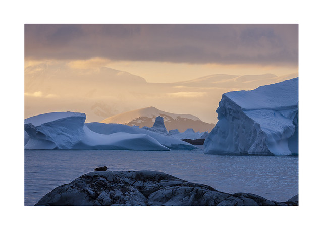 Forge Islands Sunrise, Antarctica., Canon EOS 50D, Canon EF 70-200mm f/4L IS