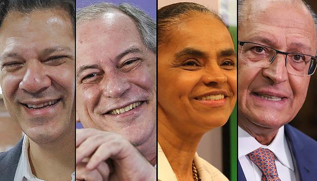 Encuesta IBOPE en Brasil confirma empate técnico entre Haddad, Ciro, Marina y Alckmin