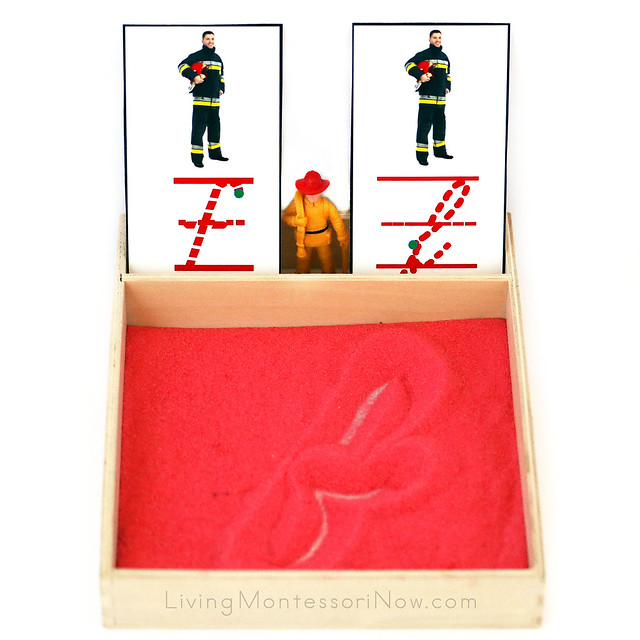 F Is for Firefighter Salt Writing Tray
