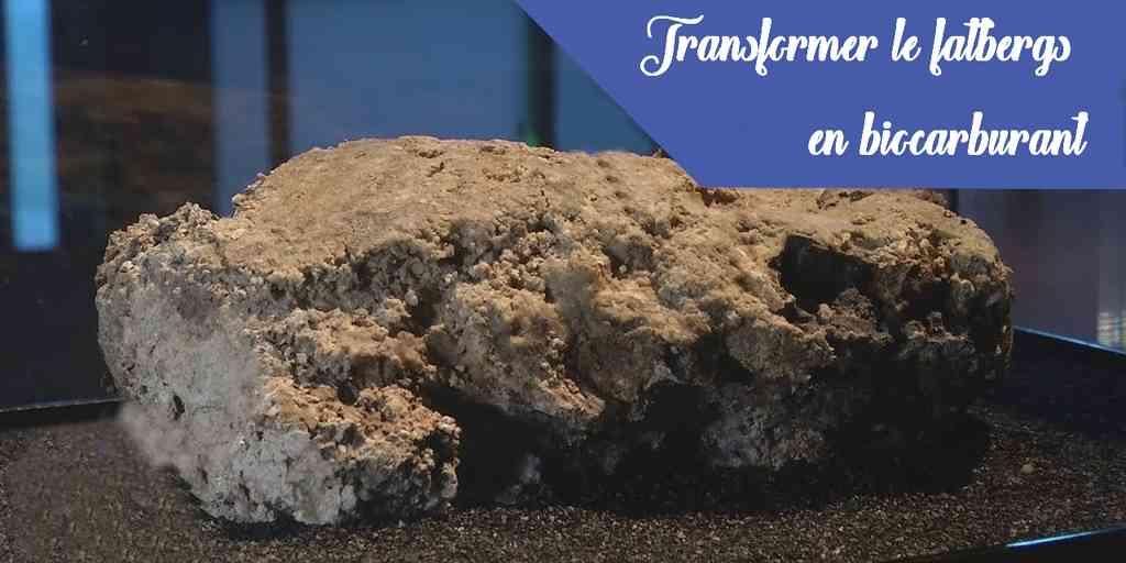 Transformer les fatbergs en biocarburant plus efficacement