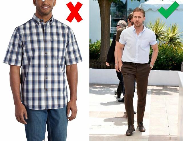 camisa manga corta para hombre