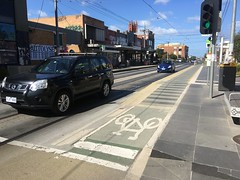 High street Northcote Tram superstop incorporating cycle path