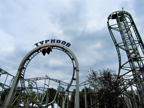 Typhoon rollercoaster in Bobbejaanland