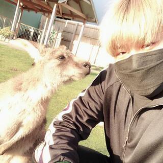 Woojin with Kangaroo