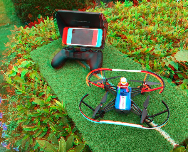 3D anaglyph by toydrone TELLO & i3DSteroid