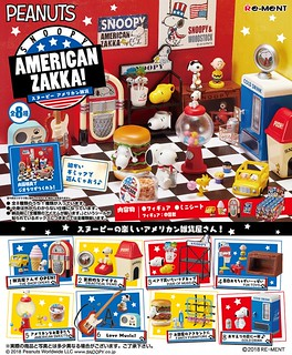 Re-ment Peanuts Snoopy American Zakka!