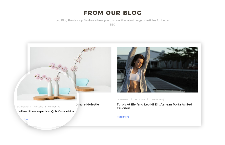 blog Prestashop module - hitech store