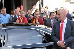 Dalai Lama visits the Nieuwe Kerk in Amsterdam
