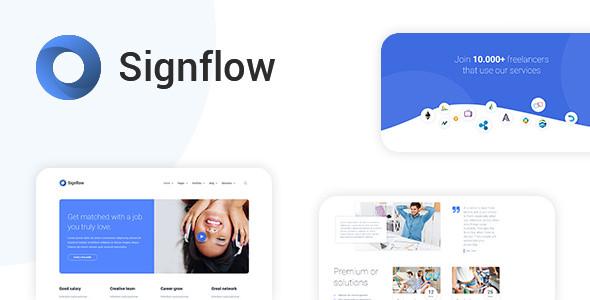 Signflow v1.4.5 – Ultra Modern Tech & Startup Theme