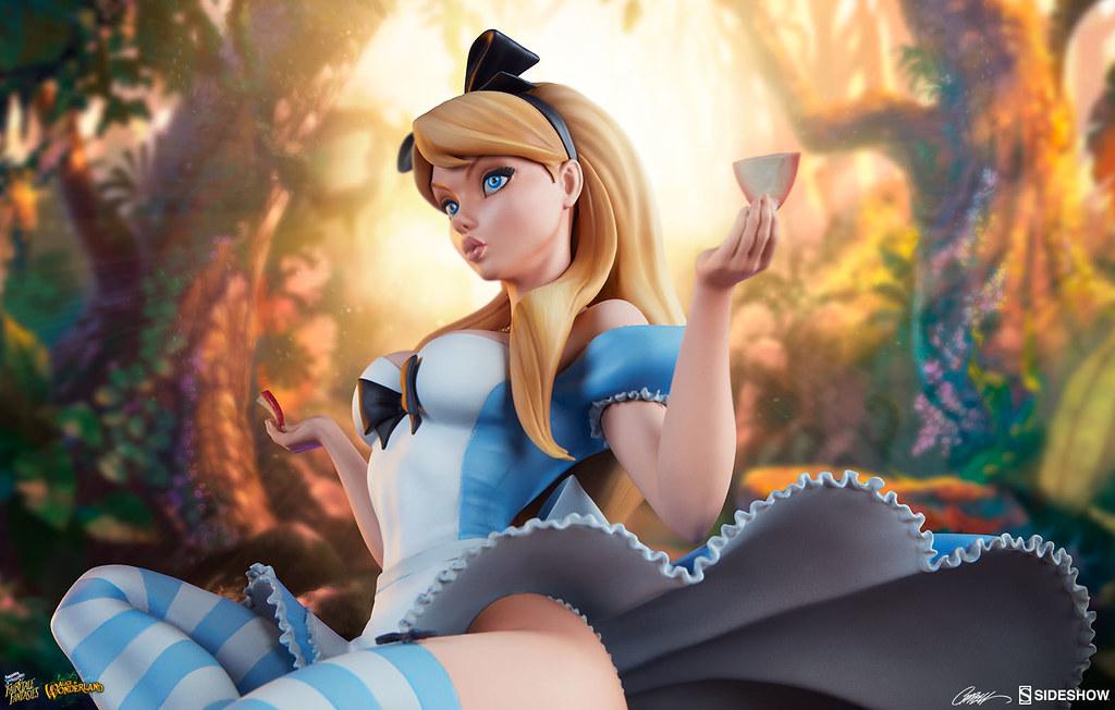 妙妙貓在看什麼?! Sideshow Collectibles Fairytale Fantasies 系列【愛麗絲夢遊仙境】Alice in Wonderland 全身雕像作品