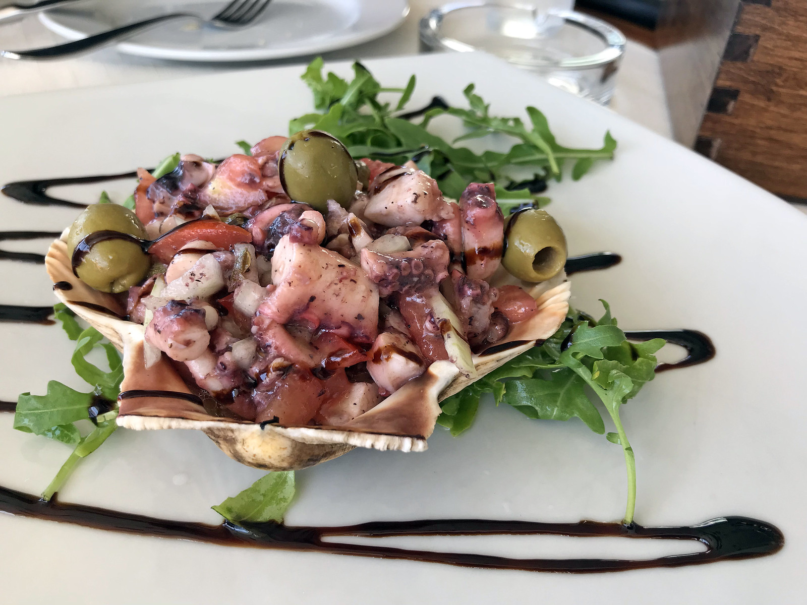 Octopus salad at Lungomare Restaurant