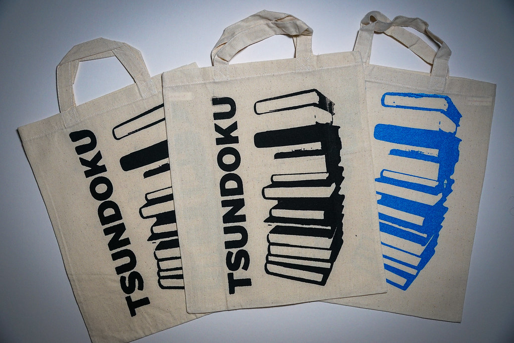 Tsundoku Canvas Bags