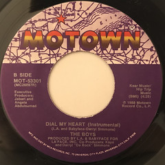 THE BOYS:DIAL MY HEART(LABEL SIDE-B)