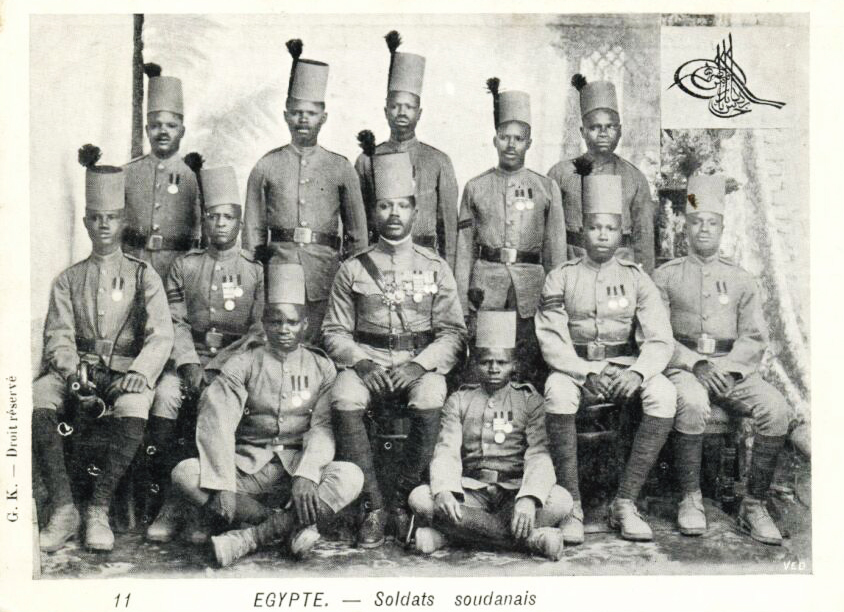 Sudanese soldiers in the Egyptian army, 1899