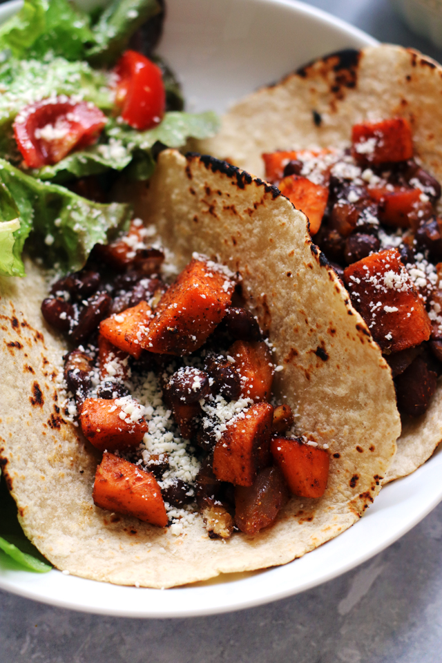 Sweet Potato and Black Bean Tacos