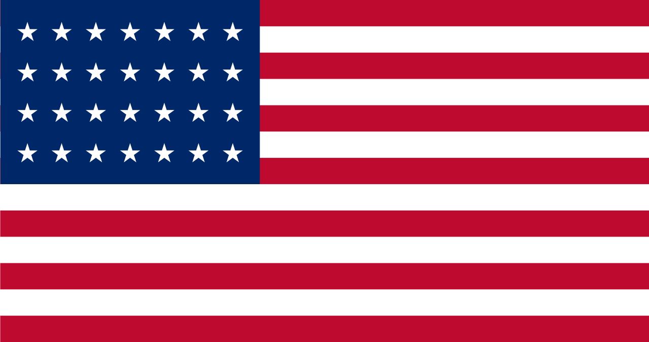 Flag of the United States (July 4, 1846 to July 3, 1847) - 28 stars
