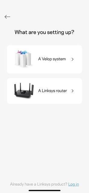 Linksys iOS App - Setup - #2