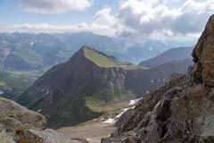 Vue à l'ouest depuis le col des Grangettes (2684m)