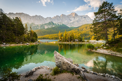 Morning at lake Eibsee from Toni Hoffmann