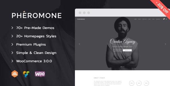 Pheromone v1.3.4 – Creative Multi-Concept WordPress Theme