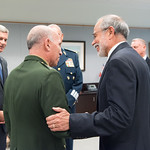 Thu, 09/20/2018 - 13:32 - On Thursday, September 20, 2018, the William J. Perry Center for Hemispheric Defense Studies honored General Salvador Cienfuegos Zepeda, Secretary of National Defense of Mexico, and Escola Superior de Guerra (ESG), National War College of Brazil, with the 2018 William J. Perry Award for Excellence in Security and Defense Education. Named after the Center's founder, former U.S. Secretary of Defense Dr. William J. Perry, the Perry Award is presented annually to individuals who and institutions that have made significant contributions in the fields of security and defense education. From the many nominations received, awardees are selected for achievements in promoting education, research, and knowledge-sharing in defense and security issues in the Western Hemisphere. Awardees' contributions to their respective fields further democratic security and defense in the Americas and, in so doing, embody the highest ideals of the Center and the values embodied by the Perry Award.