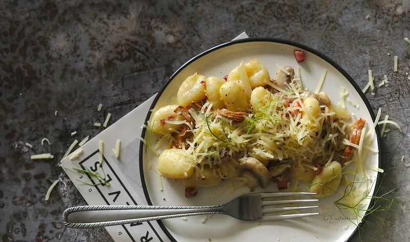 gnocchi w/ fennel and mushroom