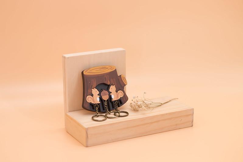 鑰匙圈 客製化 禮物 特色產品 居家 台灣設計 松鼠 松果 栗子 家庭 生日 情人節 動物 療癒 聖誕節 收納
