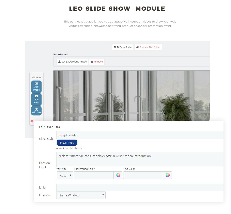 slideshow module - furniture shop