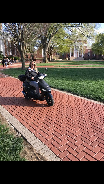 Traveling in style: Students opt for mopeds to traverse campus