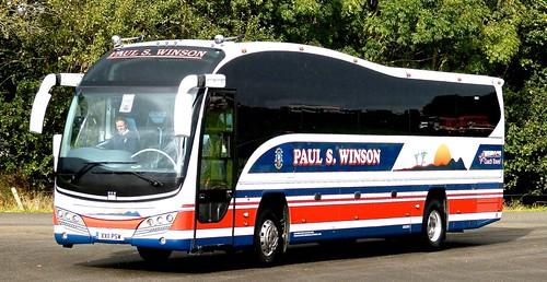 XX11 PSW 'Paul S. Winson', Loughborough. Volvo B9R / Plaxton Elite  on Dennis Basford's railsroadsrunways.blogspot.co.uk'