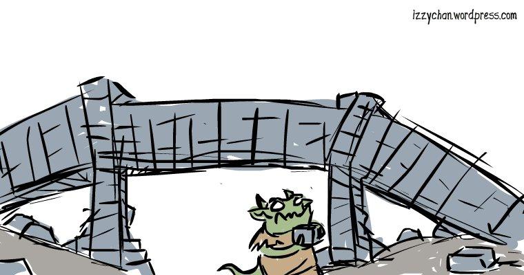 troll building bridge