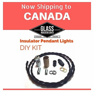 DIY Glass Insulator Light Kit - Now Shipping to Canada