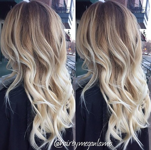 Hair Style Ideas  : Icy blonde Balayage –