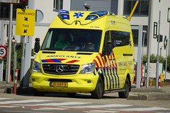 Dutch Ambulance underway to an emergency call in Amsterdam