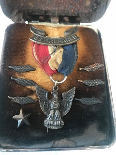 Eagle Scout Medal in box with six Eagle Palms